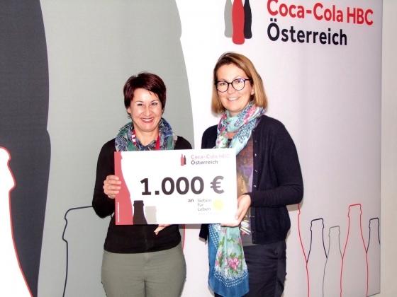 Coca-Cola HBC spendet € 1.000,-