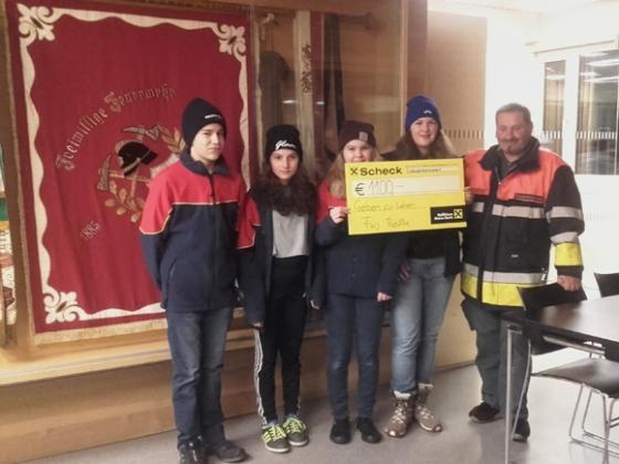 € 1.100,- von Feuerwehrjugend Reuthe