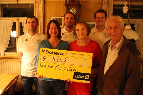 Dank FC Doren und Familie Nöckl € 1.000,- für Typisierungen