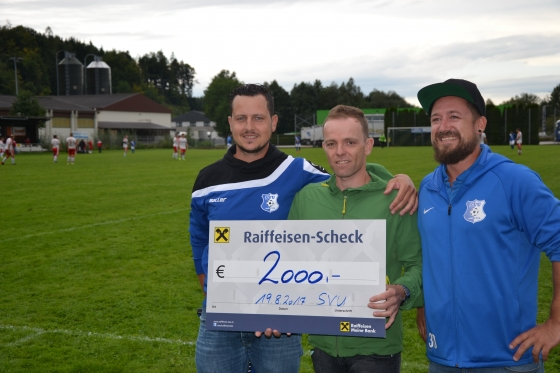 Sportverein Uttendorf spendet € 2.200,-