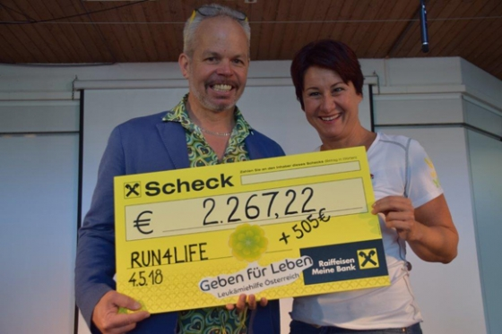 € 2.772,22 durch Run4Life der NMS Mittelweiherburg