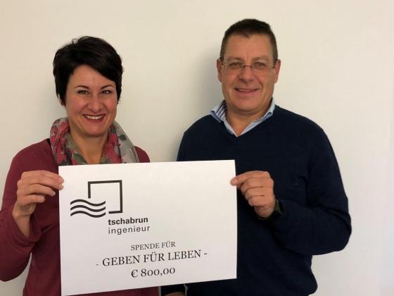 Tschabrun Ingenieur GmbH spendet € 800,-