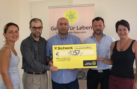 € 1.057,- vom Verein