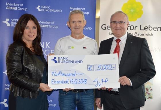 € 5.000,- von der Bank Burgenland