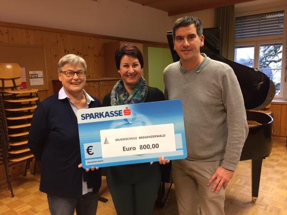 Musikschule Bregenzerwaldspendet € 800,-