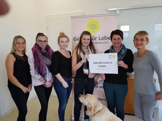 Maturaprojekt der HAK HAS Feldkirch spendet € 8.600,-