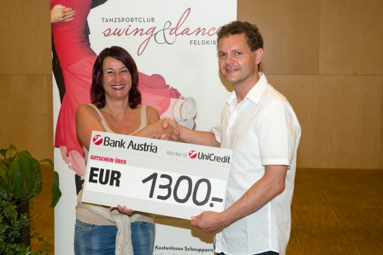 Interne Clubaktion bringt € 1.300,- durch Tanzsportclub
