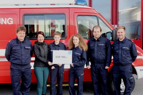 € 700,- der Feuerwehr Lustenau