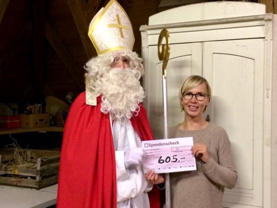 € 605,- Spende nach Nikolausaktion in Andelsbuch