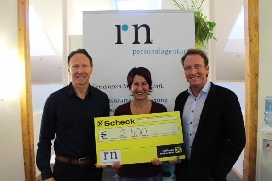 R.N. Personalagentur GmbH aus Nenzing spendet € 2.500,-