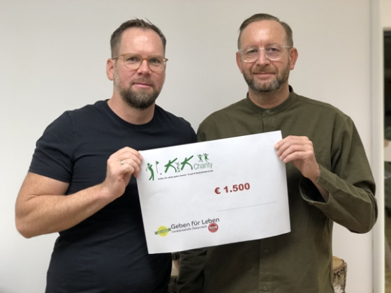 € 1.500,- nach Golfcharity von K&K in Wels
