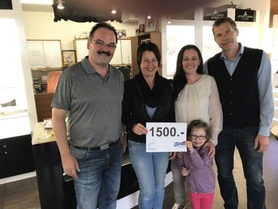 € 1.500,- von Goldschmied Himmer und IPA