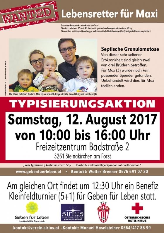 Ganz Österreich hilft dem dreijährigen Max