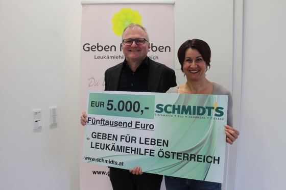 Schmidt's spendet € 5.000,- für Aktion von Wolfgang Grasbon