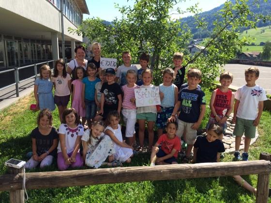 Volksschule Andelsbuch-Bersbuch spendet € 731,70