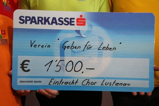 Spendeneinnahmen von über € 20.000,- in Lustenau