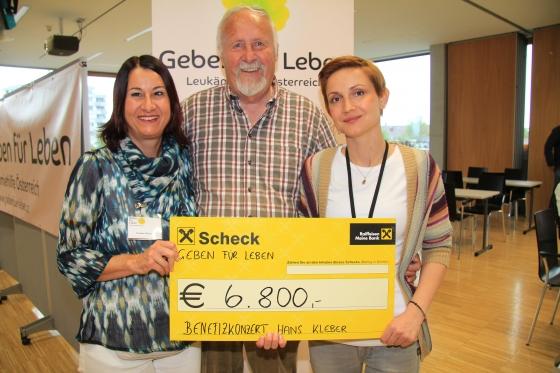 Hans Kleber spendet € 6.800,- nach Benefizkonzert