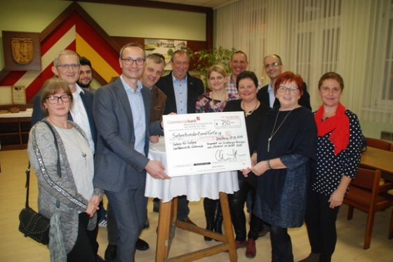 € 750,- von der Gemeinde Drassburg