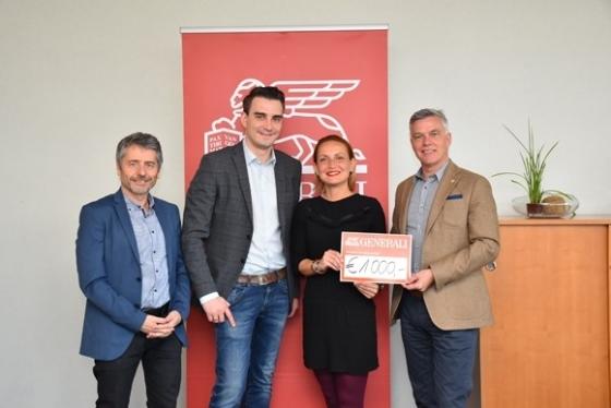 € 1.000,- Spende und 22 Neutypisierungen von Generali Vorarlberg