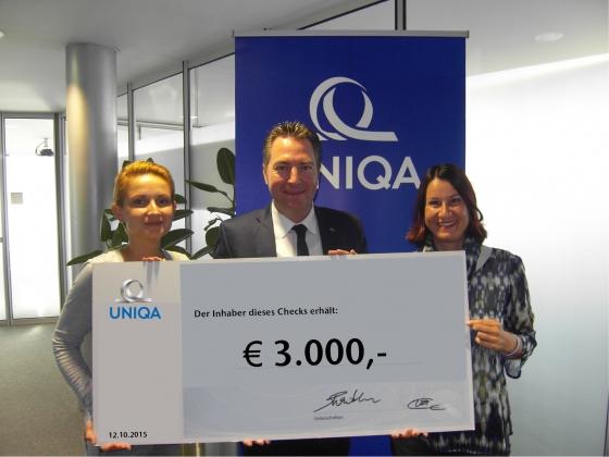 Uniqa spendet € 3.000,- an Verein