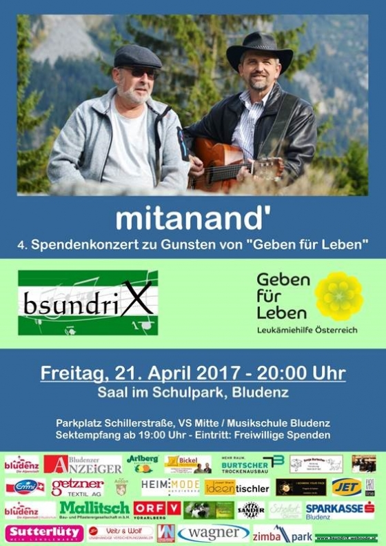 Großartiges 4. Spendenkonzert von Bsundrix am 21. April