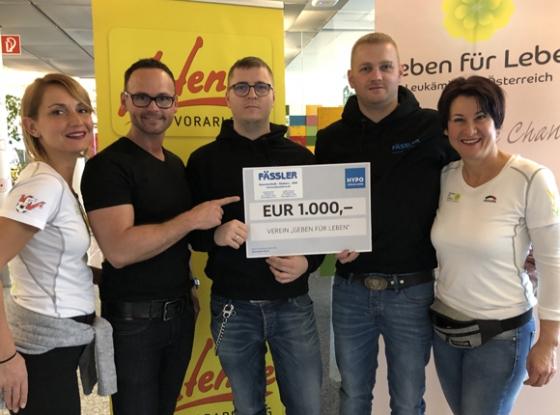 € 1.000,- von Firma Fässler