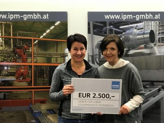 Spende über € 2.500,- von Firma IPM Elektromatic GmbH