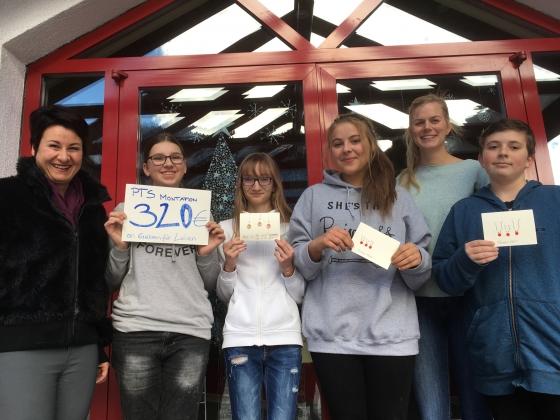 PTS Montafon spendet € 320,- nach Weihnachtsaktion
