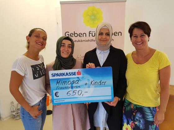 € 650,- vom Frauenverein Mimosa