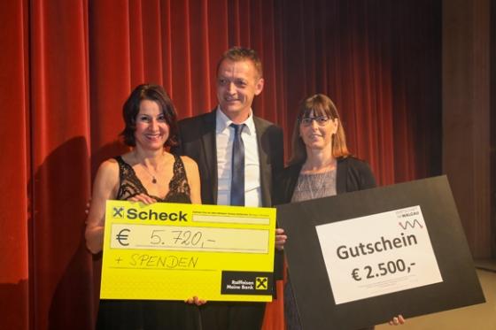 € 5.720,- nach Ball der Wirtschaftsgemeinschaft Im Walgau