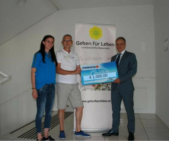 € 1.000,- vom Lionsclub St. Pölten