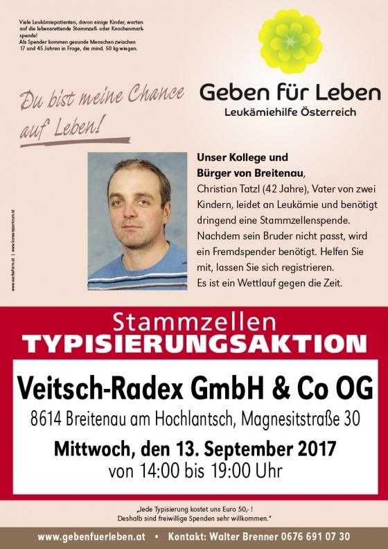 Christian Tatzl geht es nach der Stammzellspende gut