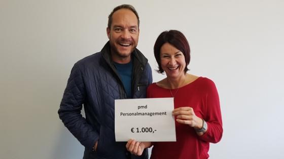 € 1.000,- von pmd Personalmanagement