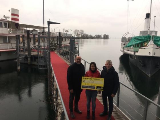 € 1.500,- von der HistorischenSchifffahrt Bodensee