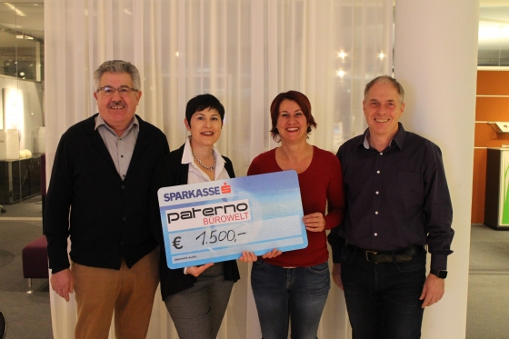 Firma Paterno Bürowelt spendet € 1.500,-!