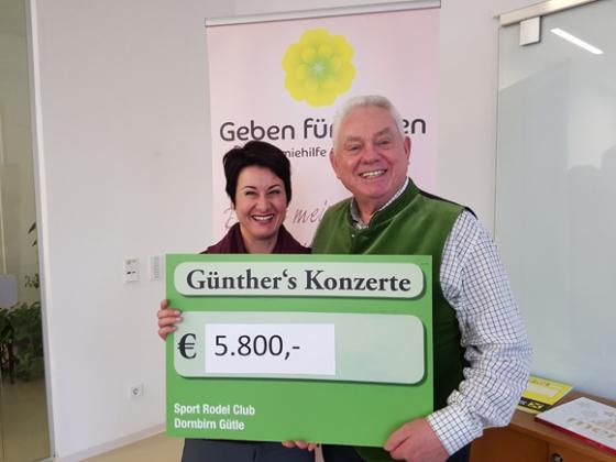 Günthers Weihnachtskonzert spendet € 5.800,-