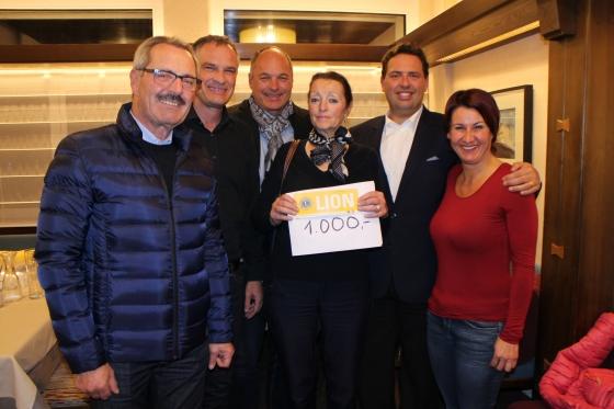 Lions Silvretta spenden € 1.000,-
