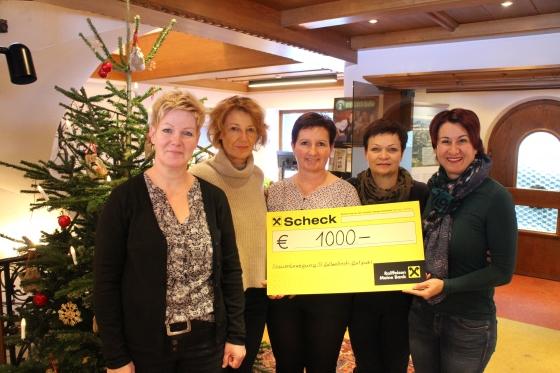 Frauenbewegung St.Gallenkirch-Gortipohl spendet € 1.000,-!