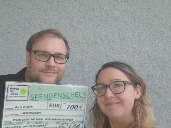 € 700,- von Stefanie und Bernhard
