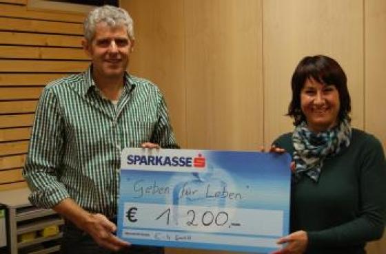 e-4 GmbH spendet € 1.200,--!