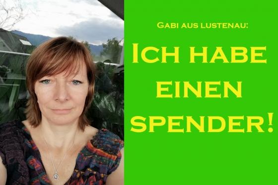 Gabi hat einen Spender!