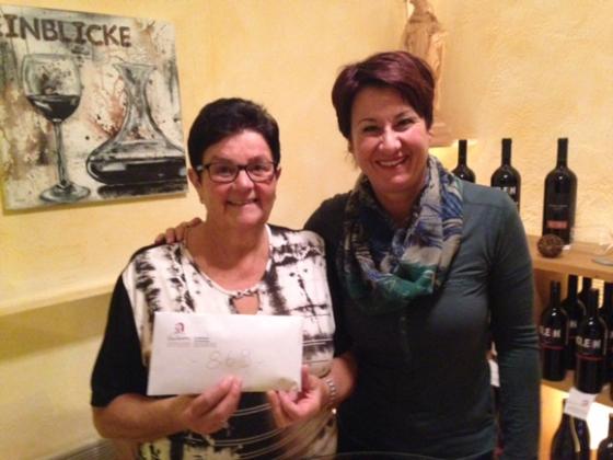 Wein-Einblicke spendet € 869,-