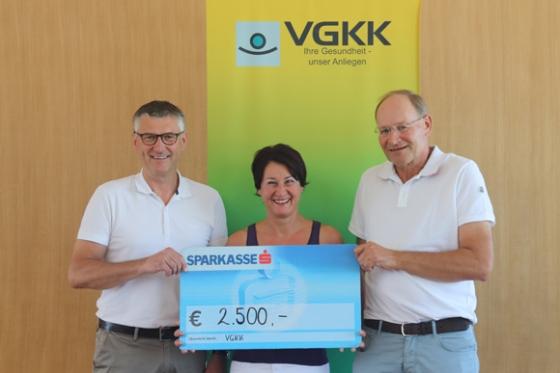 € 2.500,- Spende durch VGKK
