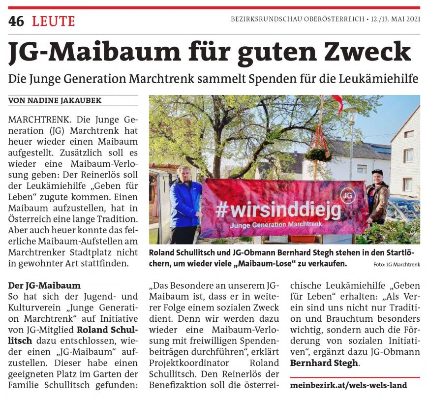 """'Junge Generation Marchtrenk stellt """"Maibaum für den guten Zweck"""" auf'-Bild-2"""