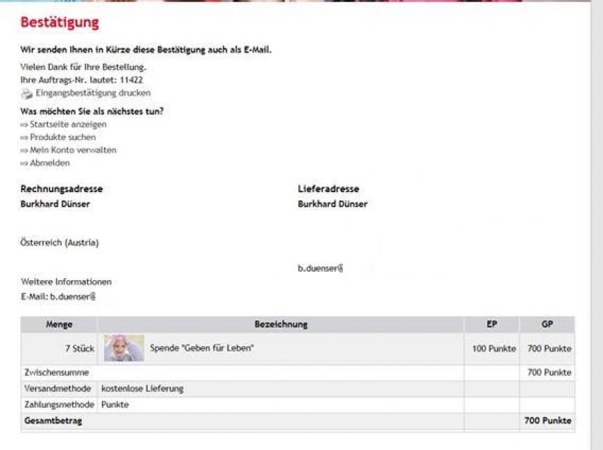 'Weihnachtsaktion der VKW - Bonuspunkteaktion bei Zählerstandablesung'-Bild-2