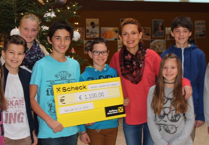 'Neue Mittelschule Sulz-Röthis spendet € 1.100,- nach Sponsorenlauf bei Erntedankfest'-Bild-2