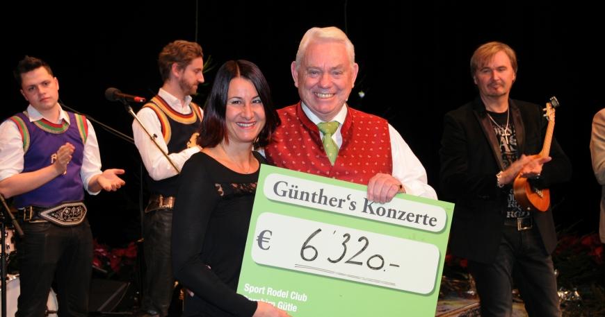 'Günthers Weihnachtskonzert mit Nik P. im Kulturhaus Dornbirn spendet € 6.320,-'-Bild-2