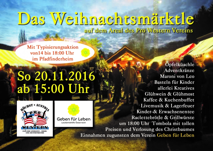 'Typisierungsaktion bei Höchster Pro Western Weihnachtsmarkt im Pfadiheim am 20.11.'-Bild-1