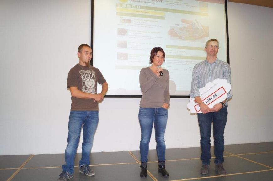'Landesberufsschule Dornbirn 1 spendet € 1.141,04 für Typisierungen'-Bild-1