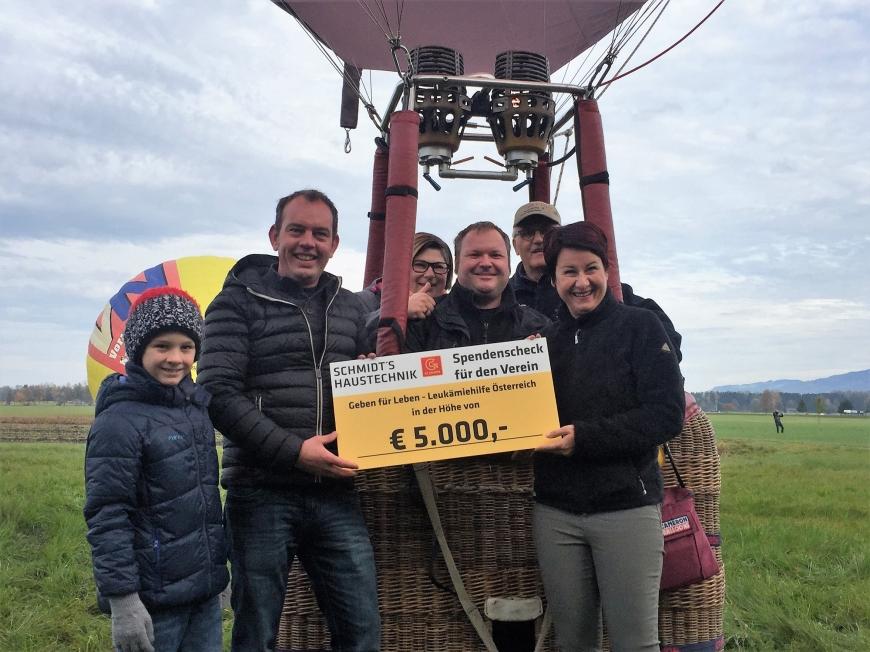 'Bei Firmenkonzert versteigerte Ballonfahrt bringt zusätzliche € 360,-'-Bild-2